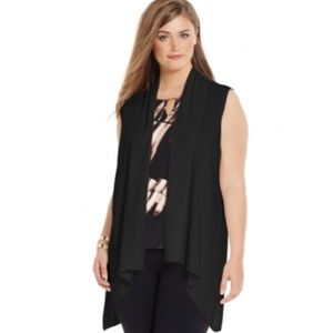 Calvin Klein Plus - Plus Size Flyaway Sweater Vest
